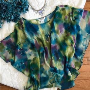 Allison Taylor Watercolor blouse